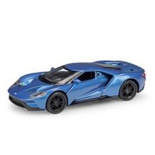 цена на Welly 1:36 Original box 2017 Ford GT Blue Pull Back Car Diecast Car Model Toy Vehicle Car Model Models Kids Car