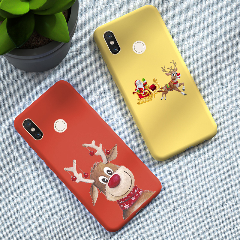 Christmas Santa Reindeer For Xiaomi Redmi Note 8 <font><b>Pro</b></font> Note 8 7 6 5 Redmi 8 8A 7 7A 6A 5A 6 <font><b>Pro</b></font> 5 5 Plus <font><b>K20</b></font> <font><b>Pro</b></font> Mi 8 Lite <font><b>Case</b></font> image