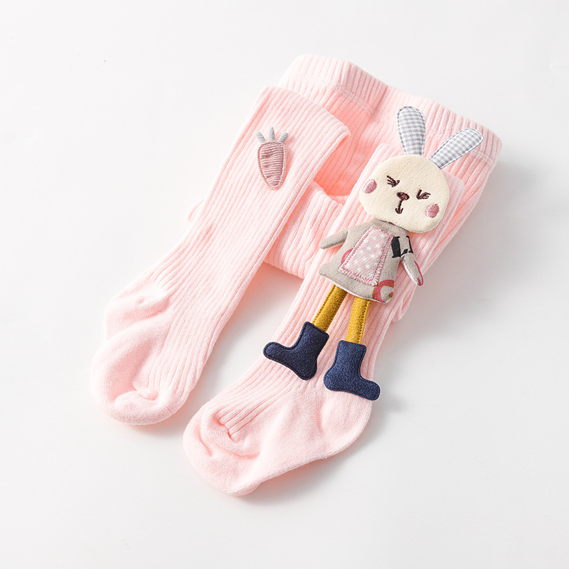 Spring Autumn Kids Knitted Children Pantyhose Cotton Double Needle Tights for Girls Cute Animal Baby Girl Winter Clothes 4