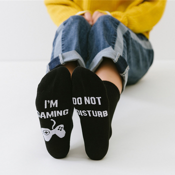 Letter Style Socks DO NOT DISTURB I`M GAMING Women Men Funny Unisex Printed Happy Casual Cotton Couple Dropshipping