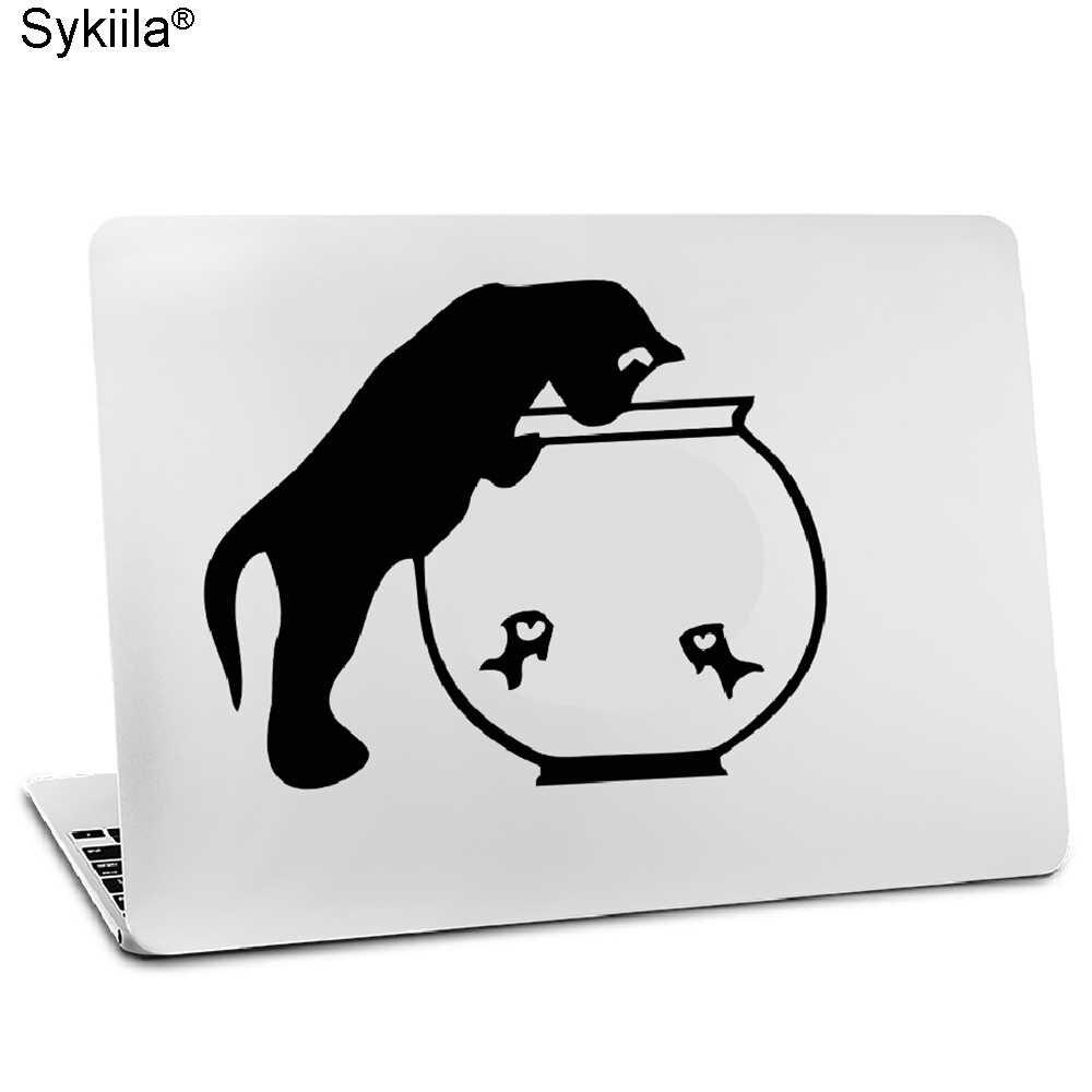 ملصق فينيل لأبل ماك بوك اير 11 13 بوصة لماك برو الشبكية 13 15 جلود غطاء توهج أسود لصائق القط القرد وولف تاتش