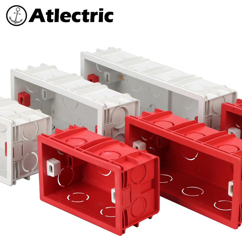 Atlectric 118 Type Mounting Box Internal Cassette Junction Wiring Case Wall Light Switch Socket US AU Standard Back Box 154 197