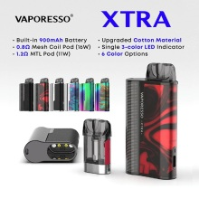 Original Vaporesso XTRA Pod Kit with 900mAh Battery & 2ml Pod System & 0.8ohm/1.2ohm Coil Mod Pod Kit vs Renova Zero/ Targe PM80 original vaporesso vape electronic cigarette vm stick 18 pen starter kit with 1200mah battery vm tank atomizers euc coil e cig