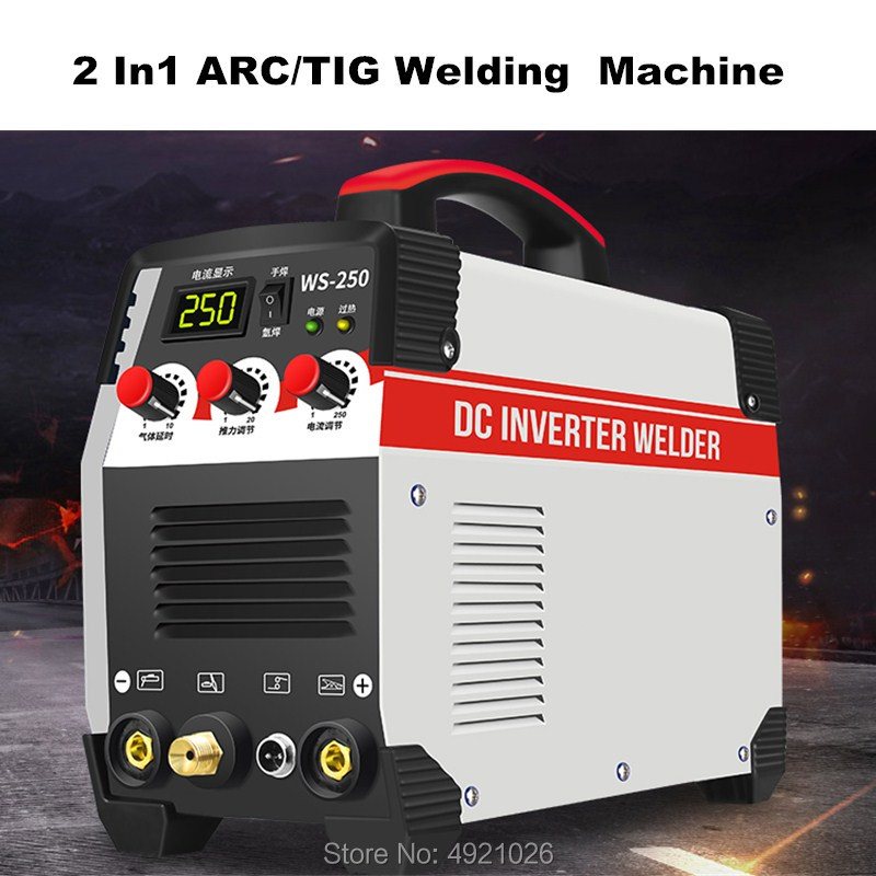 WS-<font><b>250</b></font> 2In1 ARC/<font><b>TIG</b></font> IGBT Inverter Arc Electric Welding Machine 220V 250A MMA Welders for Welding Working image