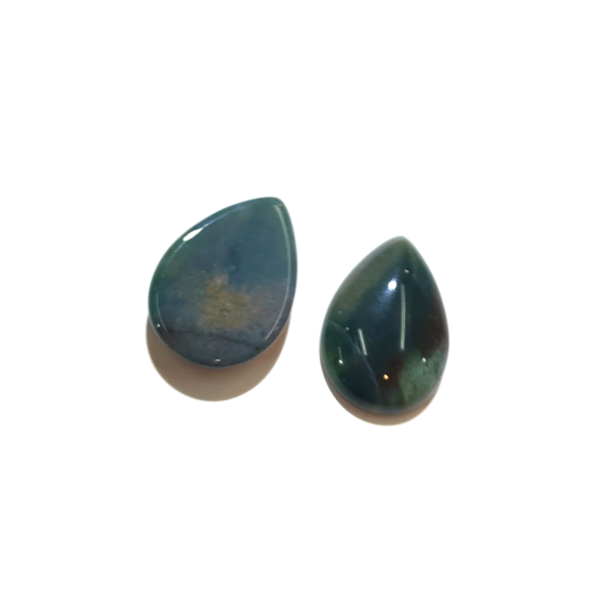 Wholesale 10 PCS India Agates Natural Stone Pendants for Jewelry Making Cabochon Water Drop Shape No Hole Beads for DIY Necklace in Jewelry Findings Components from Jewelry Accessories