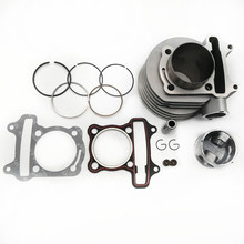 GY6 150 cylinder Kit 57.4mm Cylinder Piston Ring Set Fits for 4 stroke Scooter Moped ATV QUAD GY6 150 157QMJ 1P57QMJ goofit piston ring set for gy6 80cc atv go kart moped
