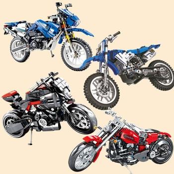 New Motorcycle Series Moto Fit Technic City Model Building Blocks Bricks Classic Toys Kid Gift Children Xmas Birthday