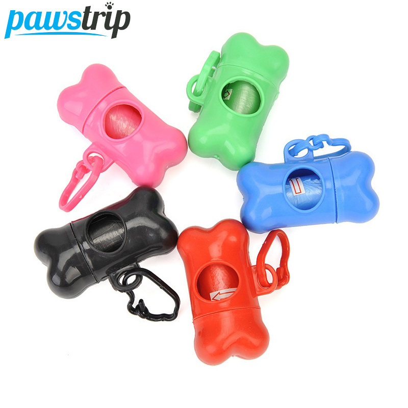 1pc Pet Waste Bag Dispenser For Dog Poop Bag Bone Shape Small Dog Waste Poop Bag Dispenser Holder With Leash Clip Accessories