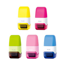 1PCS New Creative Identity Privacy Protection Roller Stamp Information Coverage Data Protector Messy Code Roller Stamp roller self inking stock stamp seal theft protection code guard your id confidentiality confidential seal office file stamp tool