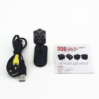 Mini Cam WIFI Camera SQ8 FULL Night Vision Waterproof Shell CMOS Sensor Recorder Camcorder DV small camera image