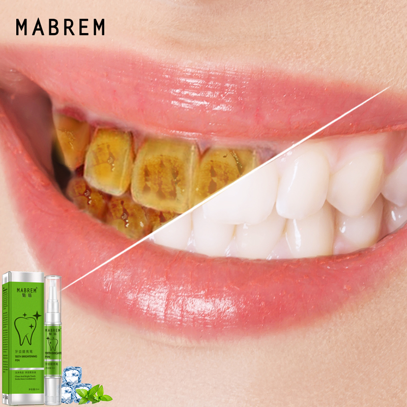 MABREM Teeth Whitening Pen White Teeth Cleaning Serum Oral Hygiene Essence Remove Plaque Stains Dental Bleaching Cleaning Teeth