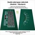 Doppel spiel tisch tuch Roulette und Blackjack Spiel Matte vlies stoff