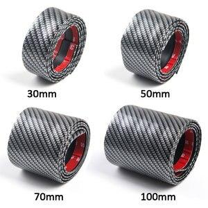 Image 5 - Carbon Fiber Rubber Moulding Strip Soft Black Trim Bumper Strips DIY Door Sill Protector Edge Guard Car Styling Car Stickers 1M