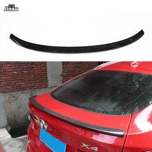 цена на Performance style carbon fiber rear trunk spoiler lip for bmw X4 xDrive 20i 28i 35i M40i 2014 - 2016 F26 P styling back wing