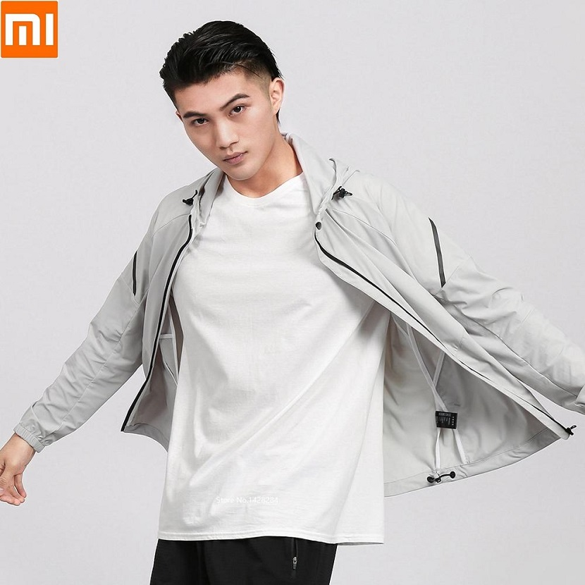 Xiaomi Uleemark Men's Stretch Lightweight Sports Jacket High Elastic Fabric Reflective Design Coat Breathable Long Sleeve