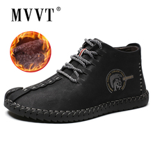 Classic Comfortable Men Ankle Boots Quality Split Leather Shoes Men Snow Boots Winter Shoes Keep Warm Fur Man Boot Shoes цены онлайн