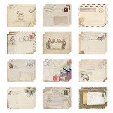12 шт./компл. винтажные маленькие Мини крафт-бумажные оконные конверты свадебные приглашения конверт подарок конверт Ancien