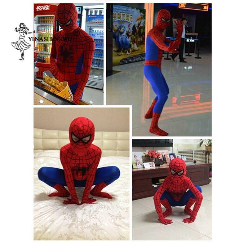 Image 2 - Red Spiderman Costume Kid Spider Man Suit Adults Children Black Spider man Cosplay Baby Spiderman Clothing Spandex Movie & TVMovie & TV costumes   -