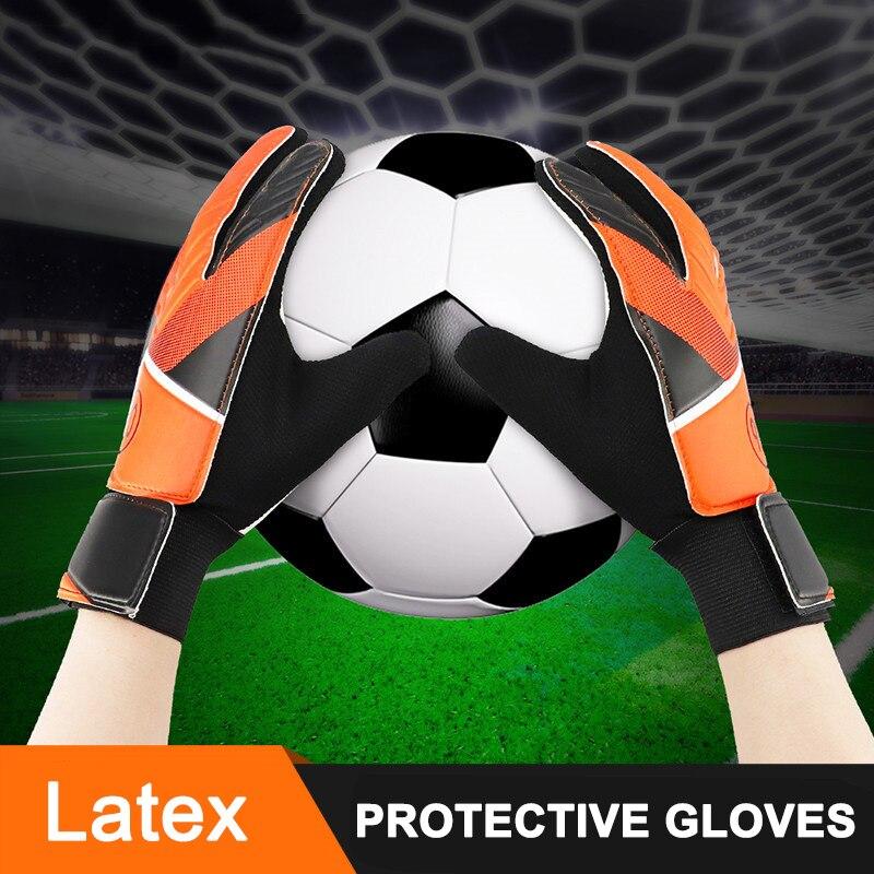 Hot Selling 1 Pair Soft Latex Full Finger Gloves Children Teens Anti Slip Hands Wrap For Football Goalkeeper FDX99