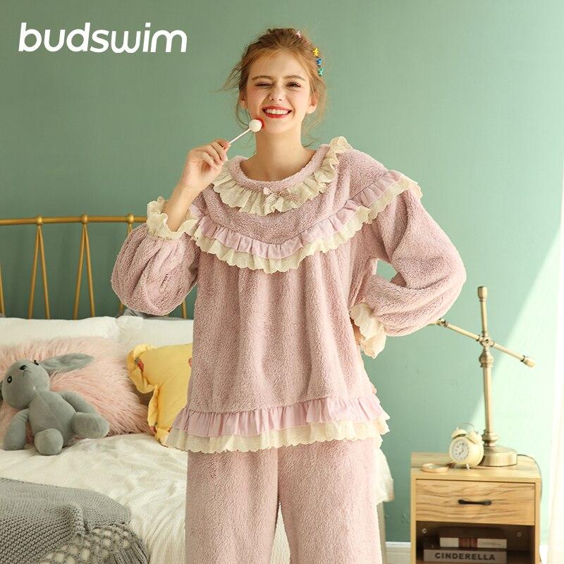Hiver nouveau pyjamas femmes hiver nouveau à manches longues femmes sexy mignon pyjamas dames service à domicile femmes
