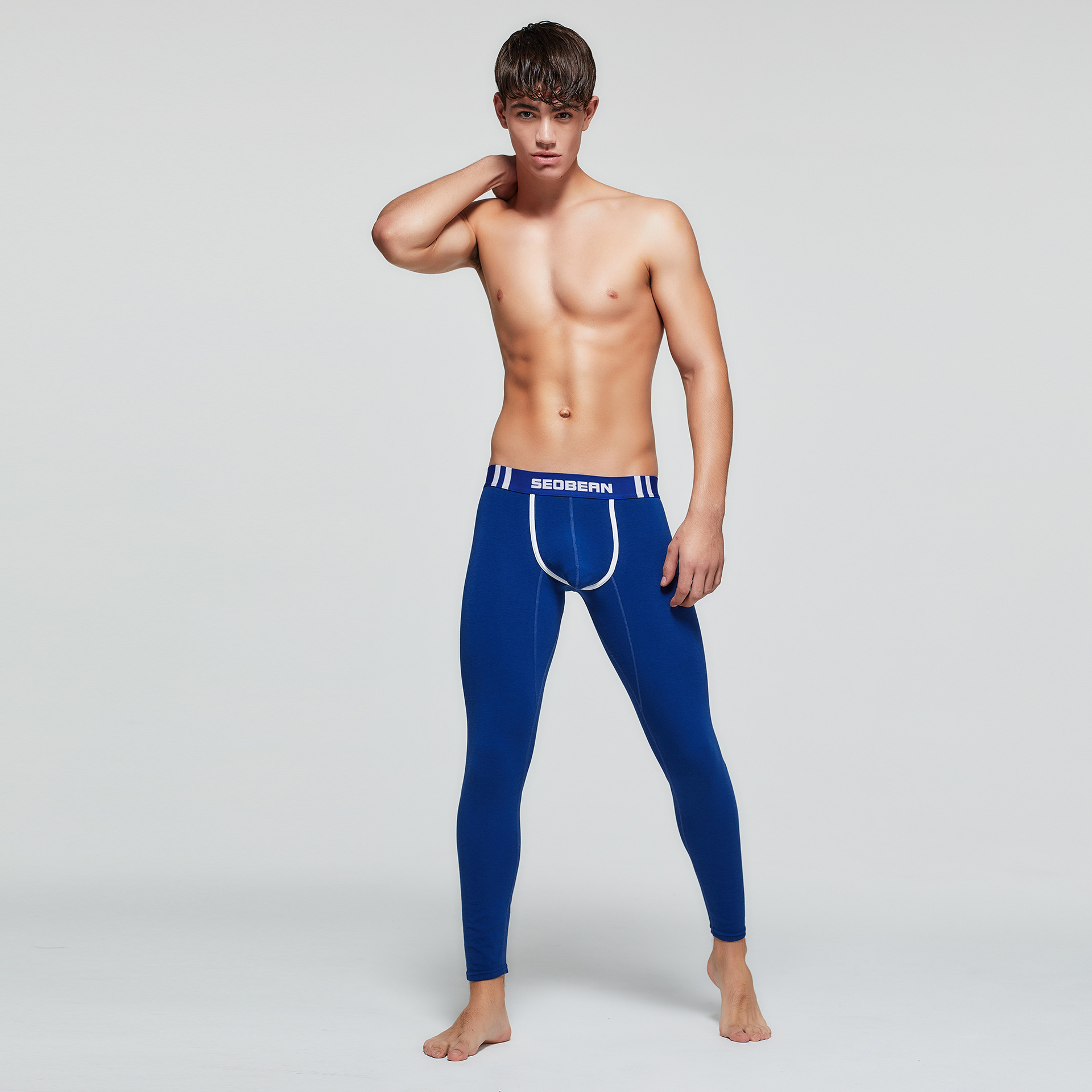 Autumn Men Sweatpant Stretch Compression Skinny Legging Tights Running Jogger Fitness Gym Workout Athletic Sport Pant Activewear