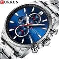 2020CURREN Лидирующий бренд Роскошные мужские часы водонепроницаемые спортивные военные мужские наручные часы полностью стальные мужские дело...