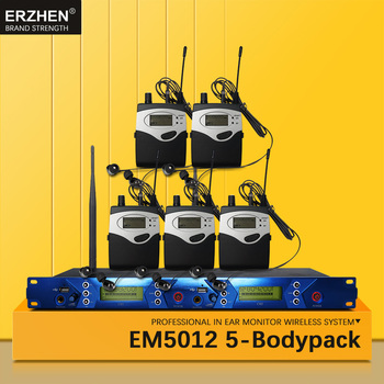 EM5012 In Ear Monitor Wireless System SR2050 Double transmitter Monitoring 5 bodypack Professional for studio Stage Performance