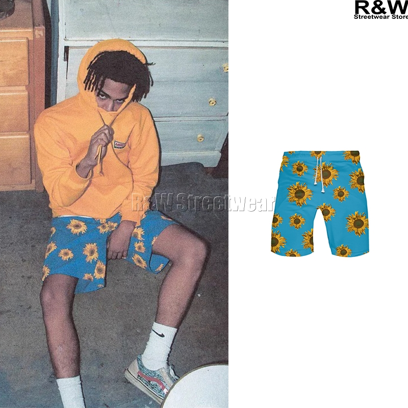 Sunflower Shorts Hiphop Streetwear Men Women Pants Rap Sports Summer Sunshine