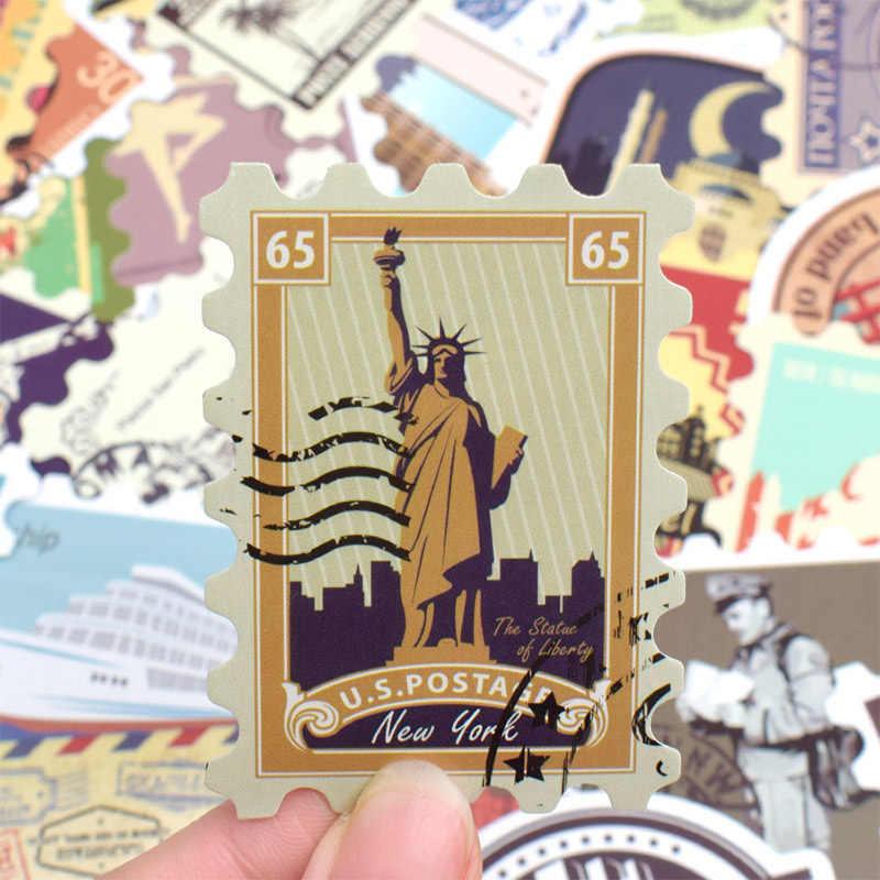 50 قطعة ل Ps4 الرجعية مختلف البلدان Stamps محمول ملصق لباد برو الفينيل To بها بنفسك إلى غلاف لاصق للكمبيوتر المحمول الثلاجة الأمتعة ملصق مائي