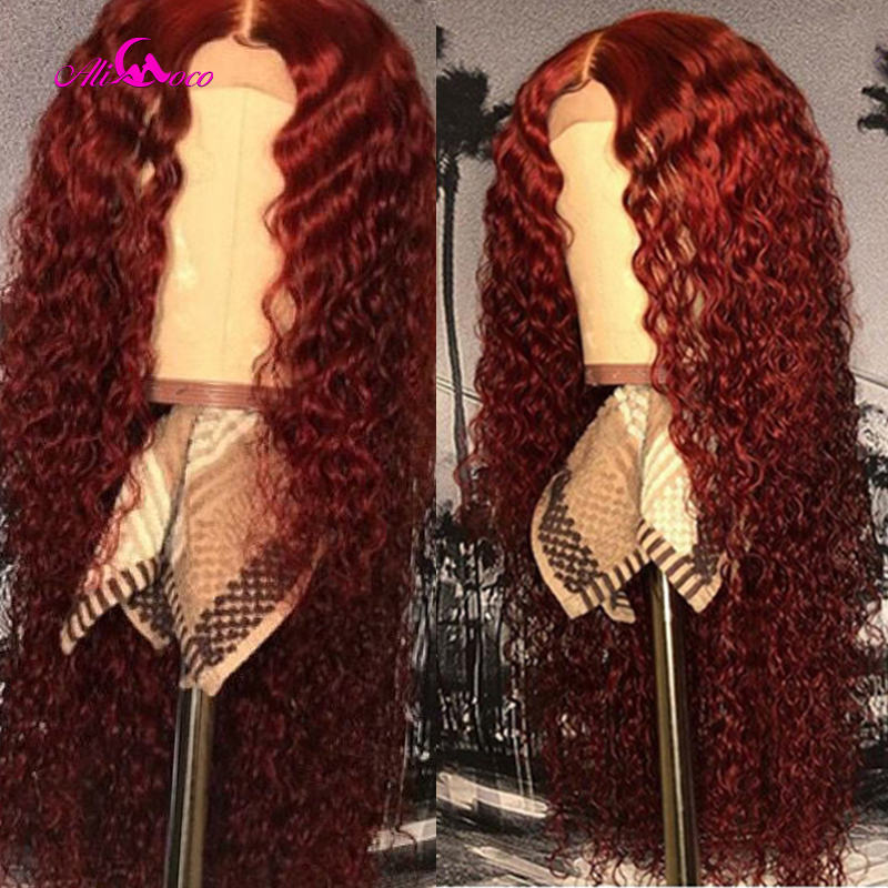 99j Curly Human Hair Lace Front Wigs 150% Orange Ginger Ombre Color Mongolian Remy Curl Wigs Pre Plucked 350 Color Wigs