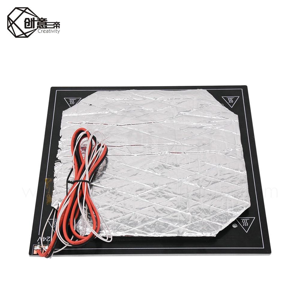 O preto aquecido da cama 24 v parte o calor quente das impressoras 3d do viveiro do calor 235mm x 235mm acessórios de alumínio da impressora da placa 3m 3d