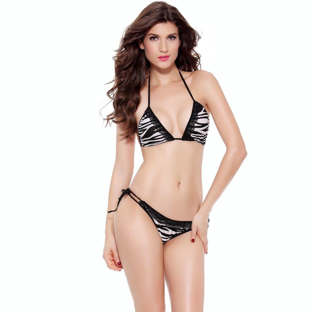 Women Sexy Leopard Print Bikini Brazilian Ladies Swimsuit Bikinis 2 Piece Set Beach Split Swimwear Beachwear Bathing Swim Suit