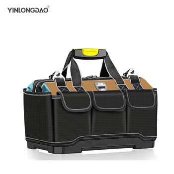 Torba na narzędzia przenośna torba elektryk wielofunkcyjna naprawa instalacja płótno duża zagęszczona torba na narzędzia kieszeń robocza tanie i dobre opinie YINLONGDAO CN (pochodzenie) TKANINA OXFORD 14 16 19 20inch tool bag bag tools kit de bolsas bolsa herramientas new tool bags size 14 16 19 20 waterproof tool bag