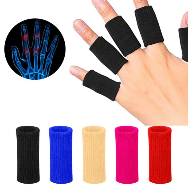 10 Pcs/set Durable Nylon Finger Sleeves Washable Finger Protector Useful Volleyball Badminton Sports Protective Fingertip Guard