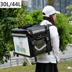 Extra grande bolsa de refrigerador para la entrega de alimentos mantenimiento fresco térmica bolsa de hielo con aislamiento mochila bolsa térmica auto aislamiento paquete
