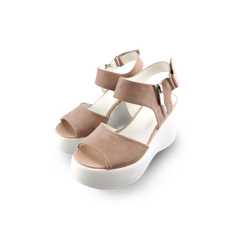 ELENAMODA Women Sandals Plus Size Wedges Shoes For High Heels Suede Leather Casual Female Platform