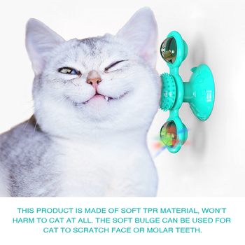 Windmill for cats with a Ball for brushing teeth 5