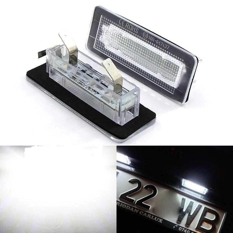 2 шт. CANbus 18 SMD СВЕТОДИОДНЫЙ номерной знак Светильник лампы ошибок для Benz Smart Fortwo купе 450 451 W450 W453