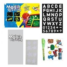 Doodle-Toy Tablet Drawing-Board Raw-Light-Fun English Children Educational Graffiti Magic