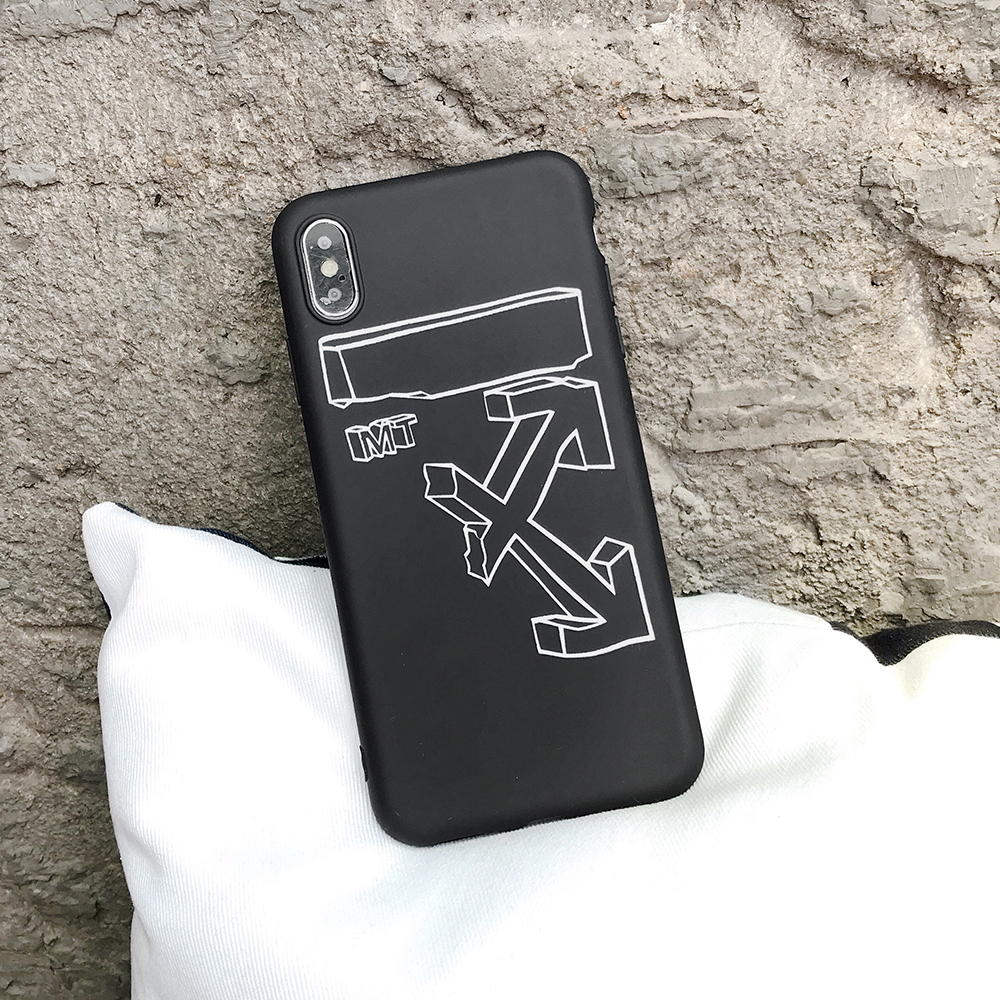 Luxury OW Brand Silicone <font><b>Case</b></font> for <font><b>iPhone</b></font> 11 PRO MAX XS XR 8 7 6S Plus 11Pro 7Plus 8Plus <font><b>White</b></font> Logo Sport Phone Cover Coque Funda image