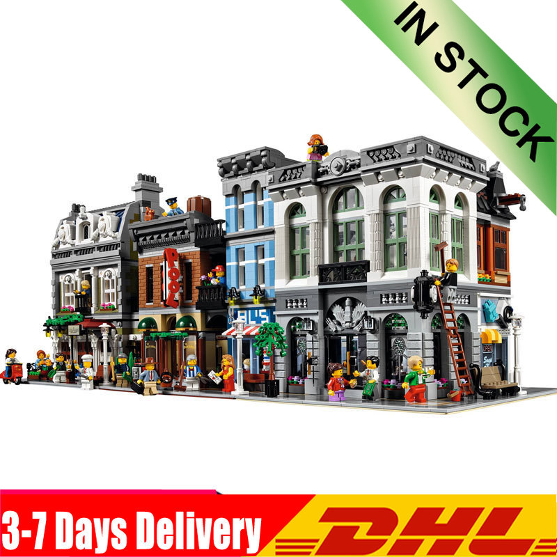 Brick Bank Detective's Office Model Building Kits Blocks Bricks Toy Compatible <font><b>Legoinglys</b></font> <font><b>10251</b></font> 10243 10197 15001 15010 15011 image