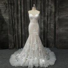 Verngo 2021 нежным кружевом с цветочным принтом Русалка свадебное
