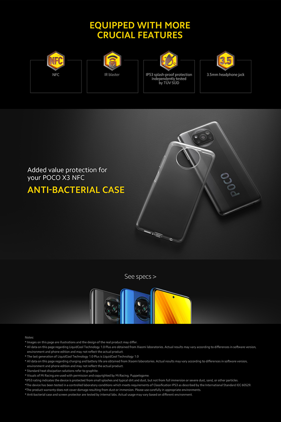 [World Premiere Sales In Stock on Sept 8] POCO X3 NFC Global Version Snapdragon 732G Xiaomi Smartphone 64MP Camera 5160mAh 33W