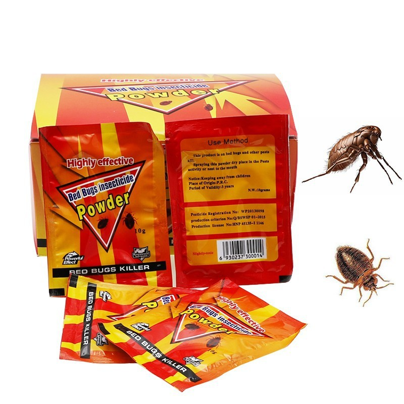 1 Piece 10g High Effective Killer Flea Pewder Bed Bugs Insecticide Bug Trap Insect Bait Control Louse