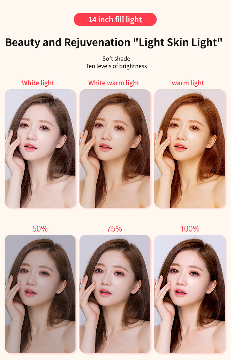 """H33d18815d6684d788d8101df62b152fe4 14"""" LED Ring Light Photographic Selfie Ring Lighting with Stand for Smartphone Youtube Makeup Video Studio Tripod Ring Light"""