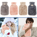 800ml hot water bottle soft to keep warm in winter portable and reusable protection plush covering washable and leak-proof