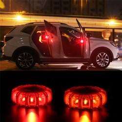 Car LED Road Flare Warning Light Emergency Light Disc Safety Flashing Light Roadside Beacon Magnetic Base Light with batteries
