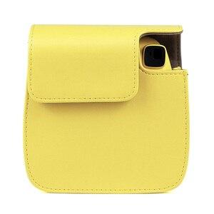 Image 4 - جودة بو الجلود كاميرا الحال بالنسبة ل Fujifilm Instax Mini 9 Mini 8 فيلم كاميرا فورية ، 5 ألوان حامي حقيبة مع حزام الكتف