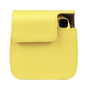 Image 4 - Kaliteli PU deri kamera çantası Fujifilm Instax Mini 9 Mini 8 anında Film kamera, 5 renkler koruyucu çanta omuz askısı ile