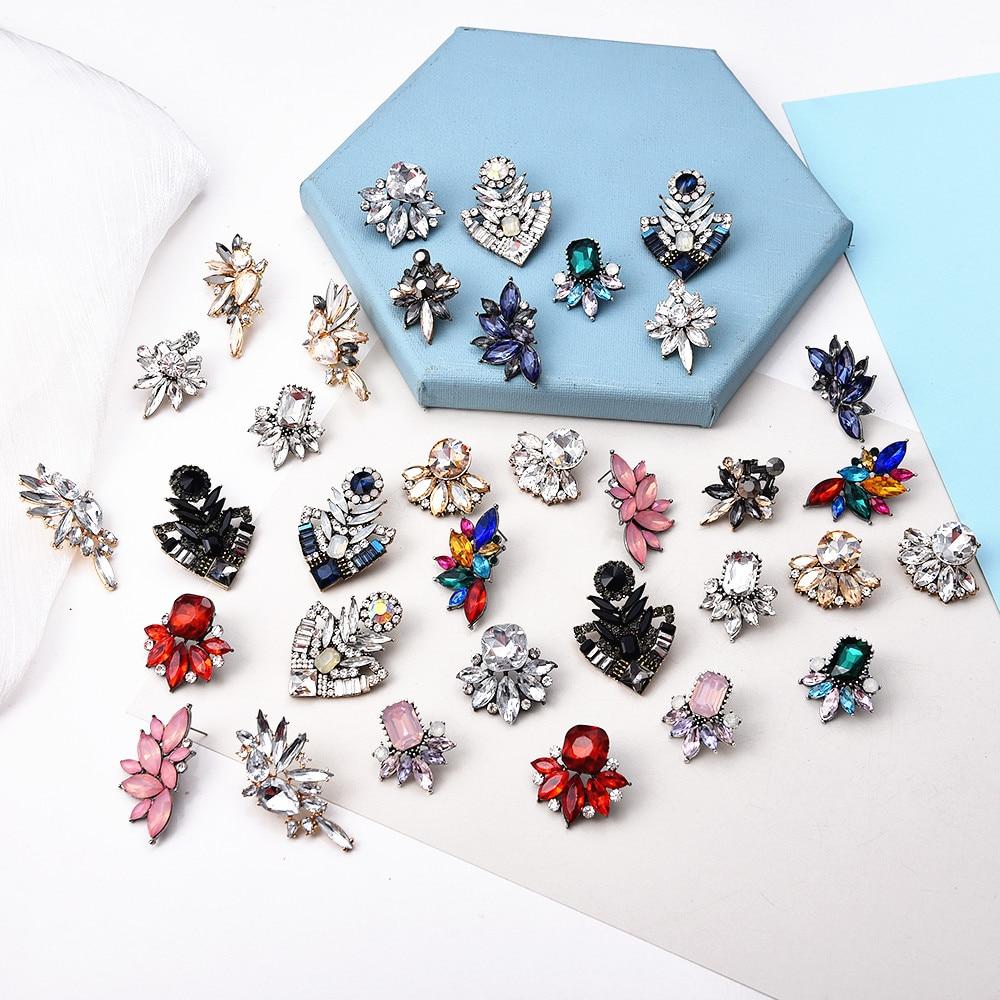 Ztech цветок опал серьги-гвоздики модный Европейский стиль шик Новое элегантное платье с украшением в виде кристаллов Стразы Серьги для женщи...